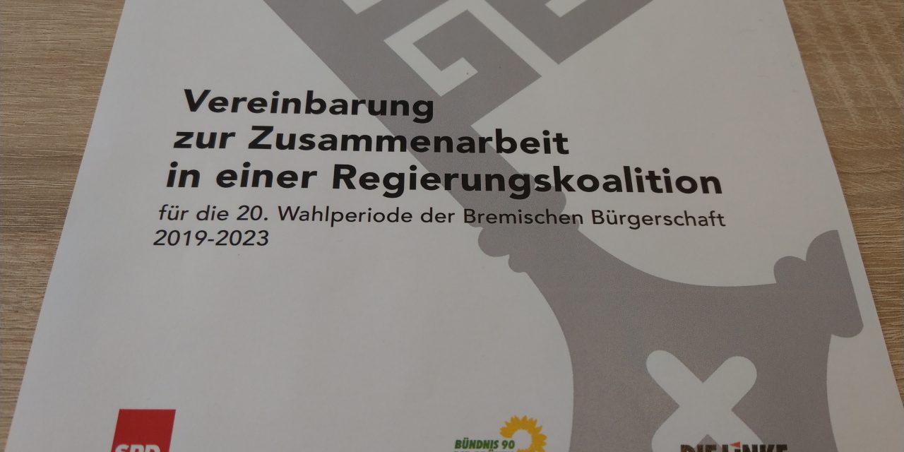 Hanffreundlicher Bremer Koalitionsvertrag in Aussicht